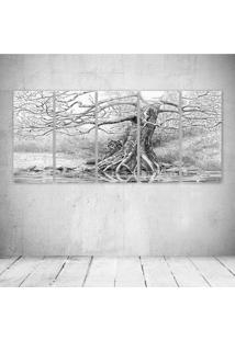 Quadro Decorativo - Tree Draw - Composto De 5 Quadros
