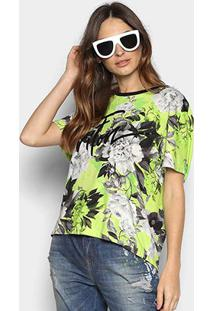 Camiseta Triton Floral Neon Feminina - Feminino-Estampado