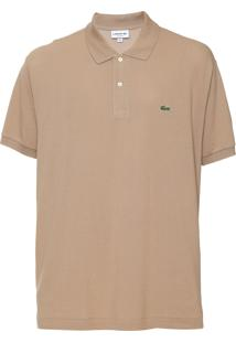 Camisa Polo Lacoste Classic Fit Bege