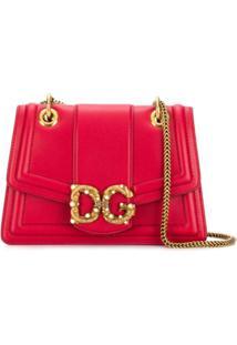 Dolce & Gabbana Bolsa Tote Sicily Com Logo - Vermelho