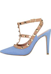 Scarpin Salto Alto Week Shoes Inspired Jeans Cintilante