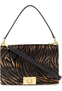 Furla Animal Print Crossbody Bag - Marrom