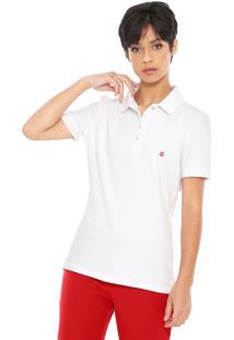Camisa Polo Carmim Reta Logo Branca
