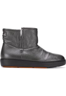 Santoni Thick Sole Ankle Boots - Cinza