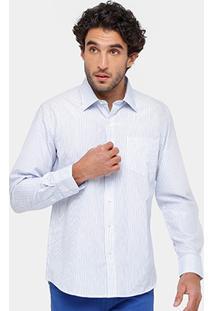 Camisa Blue Bay Listras Bolso Masculina - Masculino