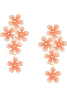 Jennifer Behr Marlene Floral Earrings - Rosa