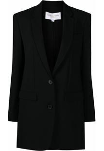 Michael Michael Kors Jaqueta Com Abotoamento Simples De Lã - Preto