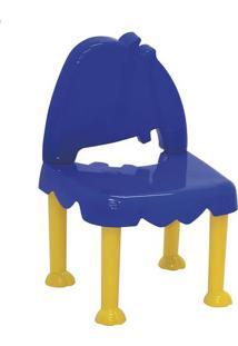 Cadeira Monster- Azul Escuro & Amarela- 33,5X12,5X33Tramontina