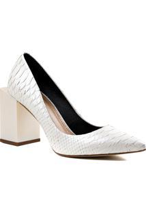 Sapato Feminino Scarpin Zariff Em Couro