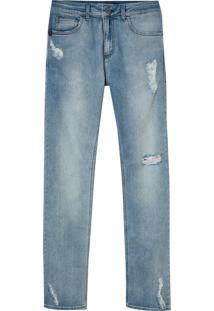 Calça John John Slim Atenas Jeans Azul Masculina (Jeans Claro, 38)