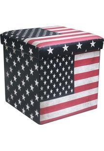 Puff Dobrável Com Baú Mk-001-Marka Móveis - Usa / Flag