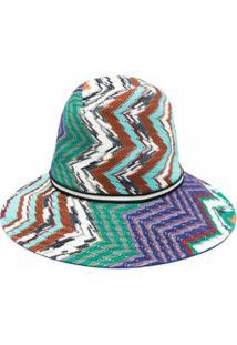 Missoni Chapéu Bucket Com Padronagem Chevron - Azul