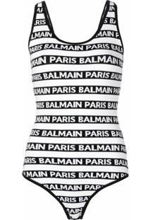 Balmain Body Listrado - Branco