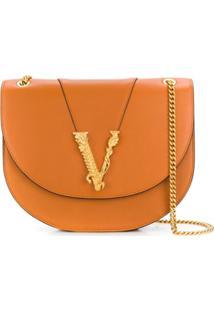 Versace Bolsa Transversal Virtus - Marrom