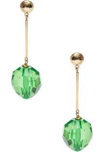 Brinco Pedras Verdes A. Brand - Dourado