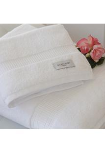 Toalha De Banho Baixa Torção 550 Gr. Branca - Scavone