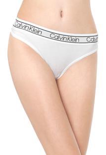 Calcinha Calvin Klein Underwear Fio Dental Flx Branca