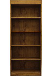 Estante Para Livros Madri Com 5 Prateleiras Rovere/Rústico - Benetil Móveis
