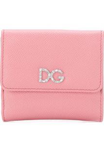 Dolce & Gabbana Carteira 'Continental' Em Couro - Rosa