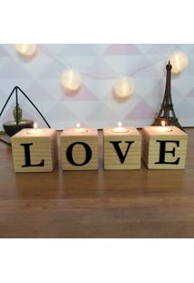 Cubo Decorativo Com Velas E Letras Em Acrílico Love
