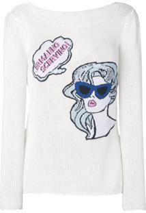 Ermanno Scervino Blusa De Tricô - Branco