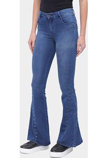 Calça Jeans Flare Enfim Lisa Feminina - Feminino