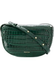 Frenzlauer Croc Embossed Shoulder Bag - Verde