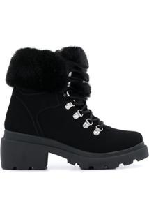 Kendall+Kylie Ankle Boot Roan Com Pelos - Preto