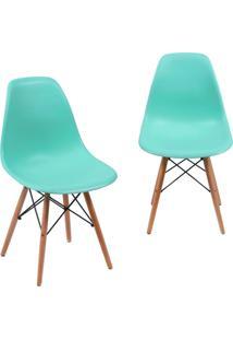 Kit 02 Cadeiras Decorativas Lyam Decor Eiffel Charles Azul.