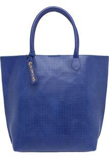 Bolsa Grande Tote Soft Atanado Azul