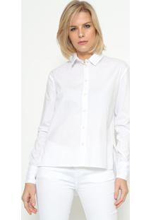 Camisa Com Fendas - Brancacalvin Klein