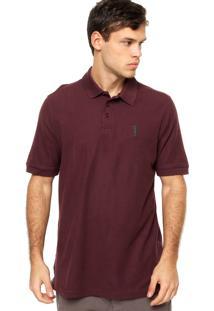 d3473daeb8 ... Camisa Polo Manga Curta Aleatory Bordado Vinho
