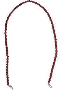 Corrente Bag Dreams Para Óculos Em Missangas Vermelha