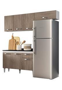 Cozinha Modulada 3 Módulos Composição 3 Branco/Castanho - Lumil Móveis