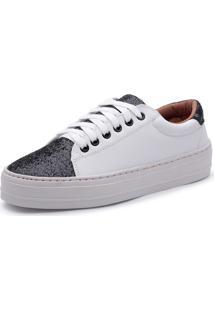 Tênis Top Franca Shoes Branco E Preto