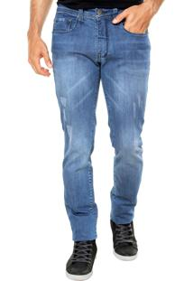 Calça Jeans Calvin Klein Jeans Skinny Tachas Azul