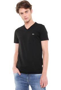 Camiseta Lacoste Regular Fit Pima Preta