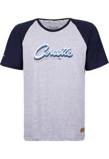 Camiseta Masculina Silver Logo Corvette Incolor