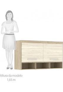 Guarda Roupa Casal De Canto 8 Portas 5 Gavetas Com Cabeceira Casal Siena Móveis Avelã Rústico/Ártico Rústico