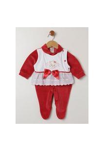 Enxoval Infantil Para Bebê Menina - Vermelho