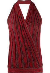 Missoni Blusa Frente Única De Tricô - Vermelho