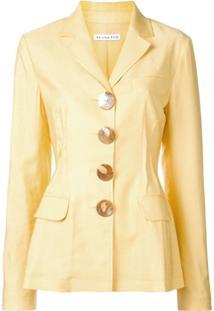 Rejina Pyo Shell Button Blazer - Amarelo