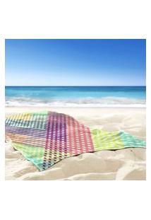 Toalha De Praia / Banho Traços Geometricos Color Único