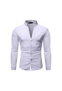 Camisa Masculina Slim Fit - Branca