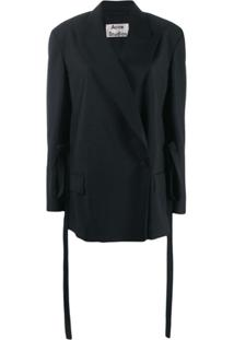 Acne Studios Un-Structured Double Breasted Tailored Jacket - Preto