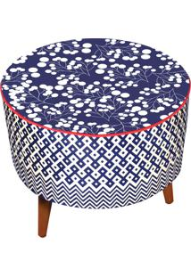 Puff Renata Sader Redondo Pion Azul
