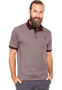 Camisa Polo Mr Kitsch Maga Curta Mouline Vinho
