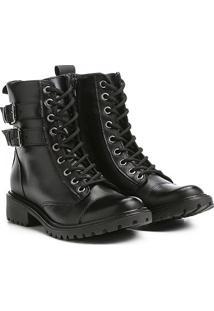 16857021ca227 ... Bota Coturno Shoestock Fivelas Feminina - Feminino