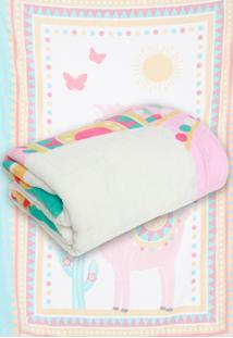 Cobertor Solteiro Lepper Lhama Rosa 1,50 X 2,20