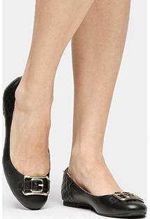 Sapatilha Couro Shoestock Fivela Feminina - Feminino
